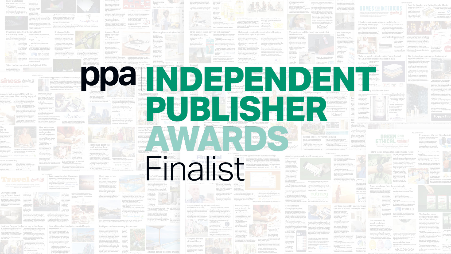 Finalists in Independent Publisher Awards 2019