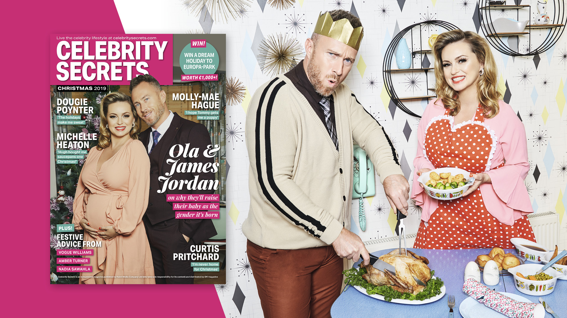 EXCLUSIVE INTERVIEW WITH OLA & JAMES JORDAN INSIDE CELEBRITY SECRETS: THE CHRISTMAS ISSUE OUT NOW!