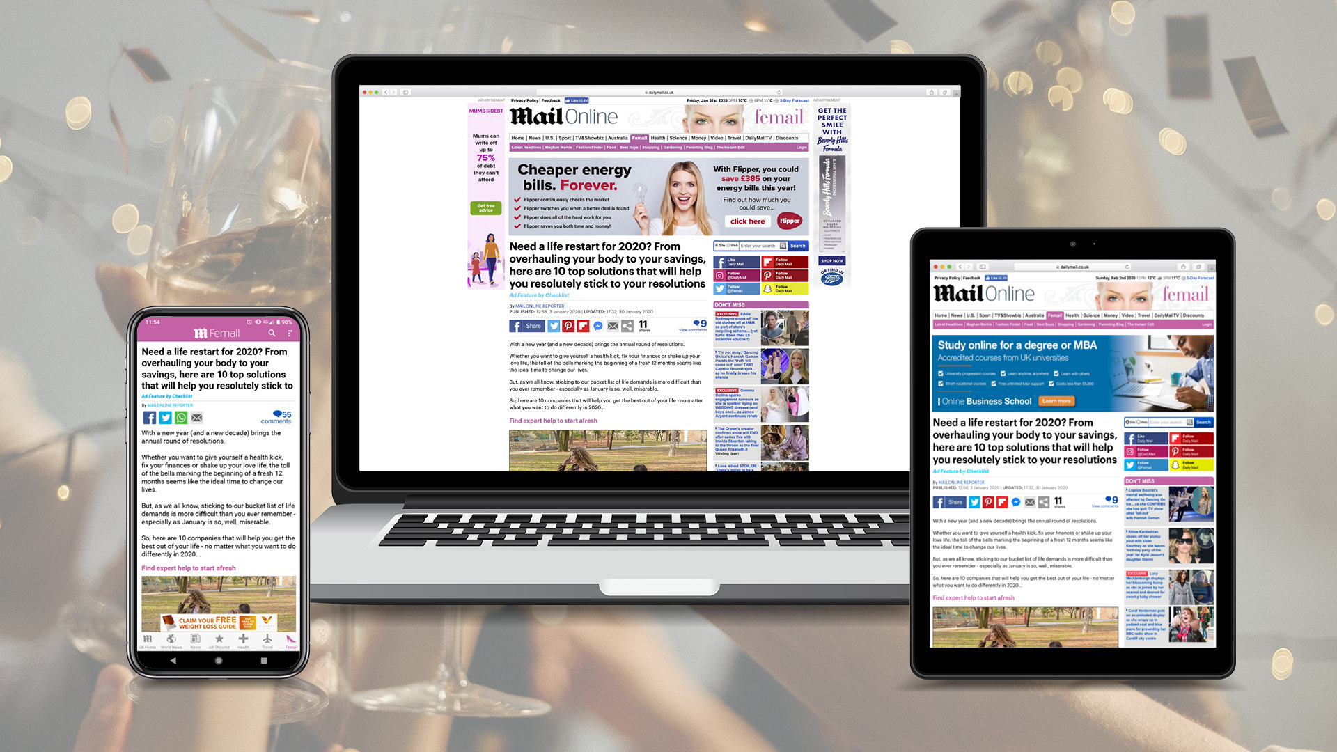 Latest MailOnline Feature Will Inspire Your New Year's Resolutions