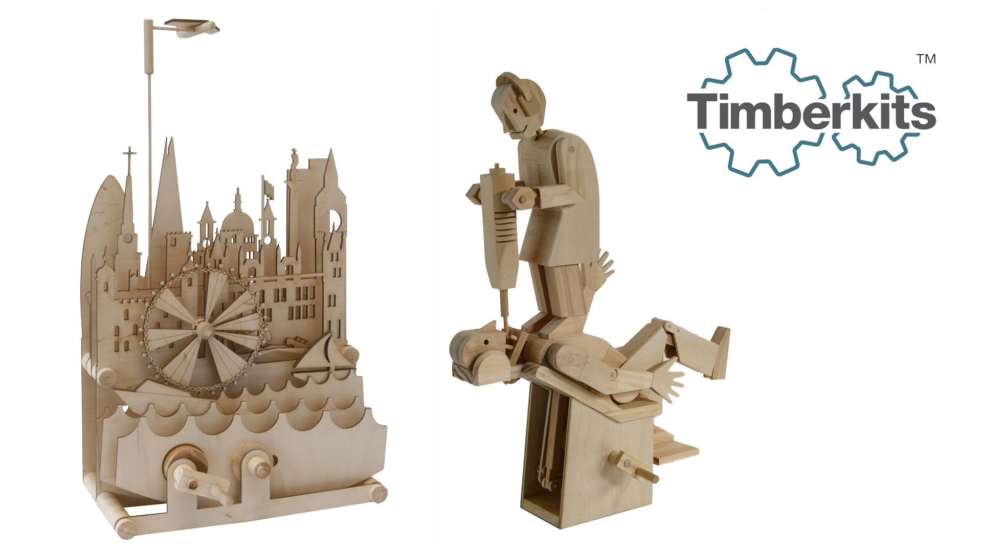Traditional natural wooden Timberkit models