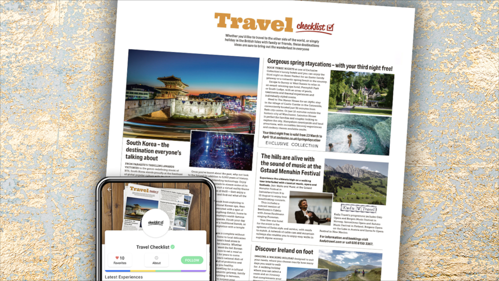 New leisure, hospitality, entertainment and travel mobile app opportunity
