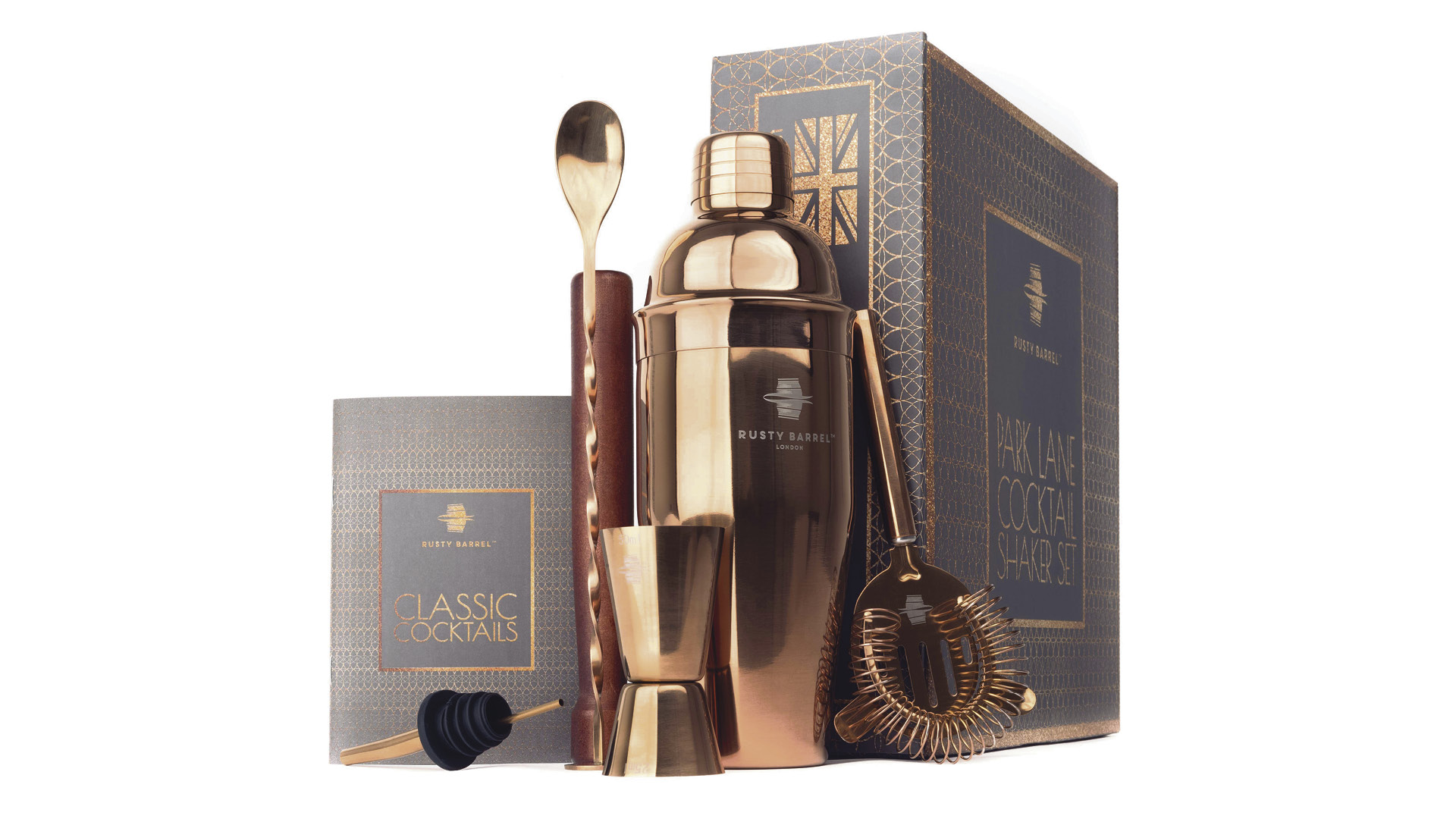 Win one of five Rusty Barrel Park Lane Cocktail Sets  Worth £35.95 each