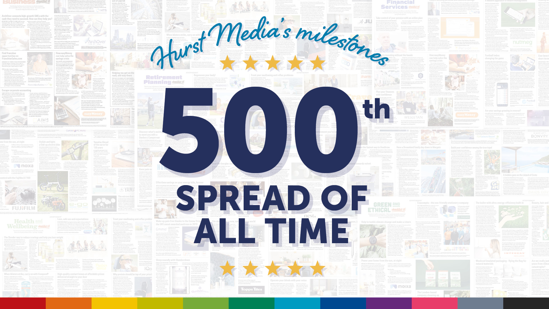 The Times Publishes Hurst's 500th spread