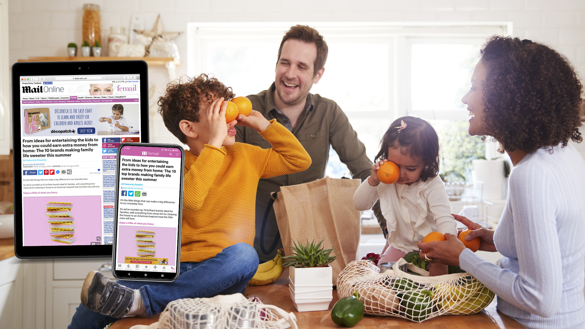 Family Inspired Products in MailOnline Feature