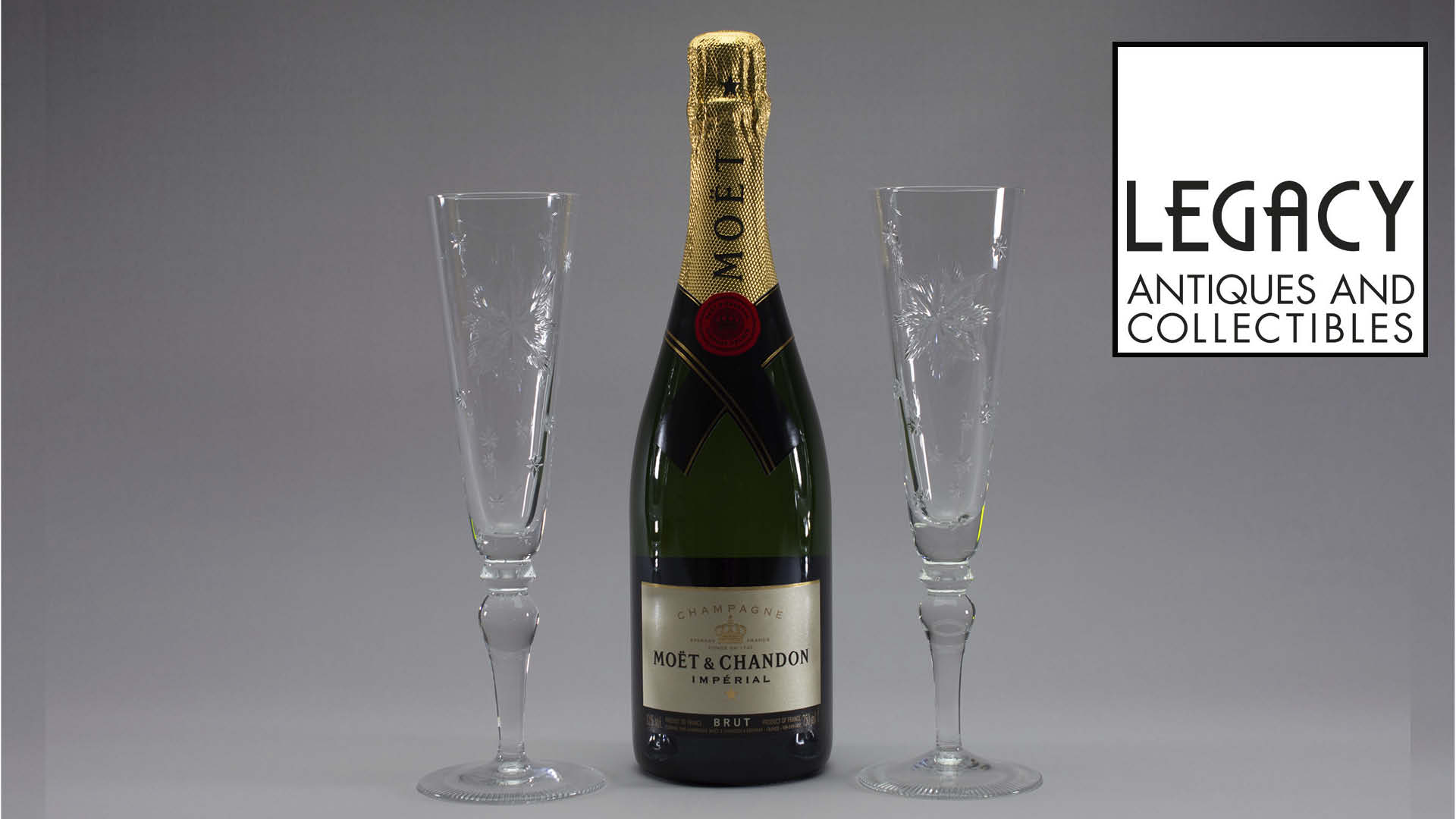 Win a pair of crystal flutes and a bottle of bubbly Worth £230!