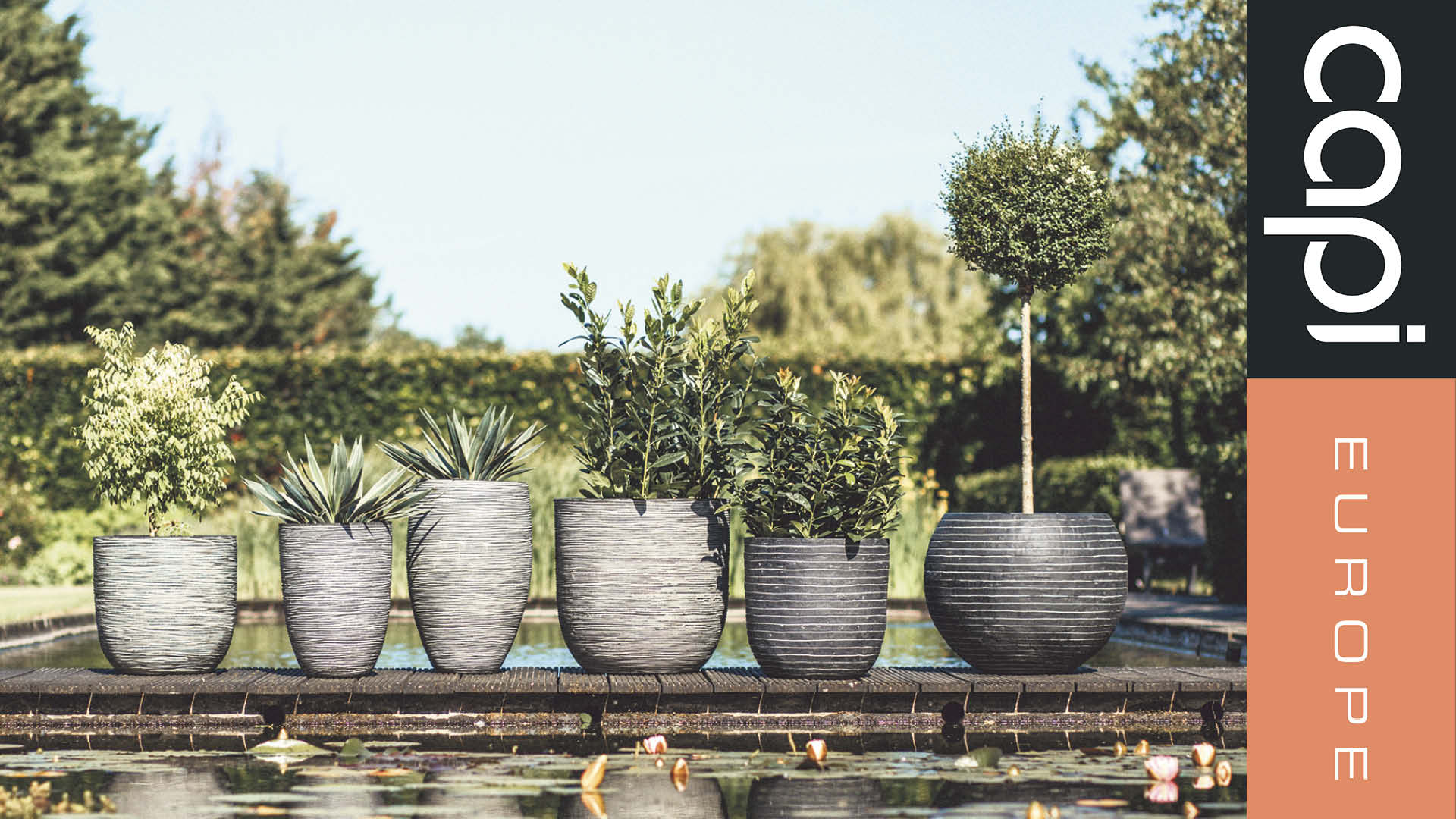 set of two designer CO2 neutral planters