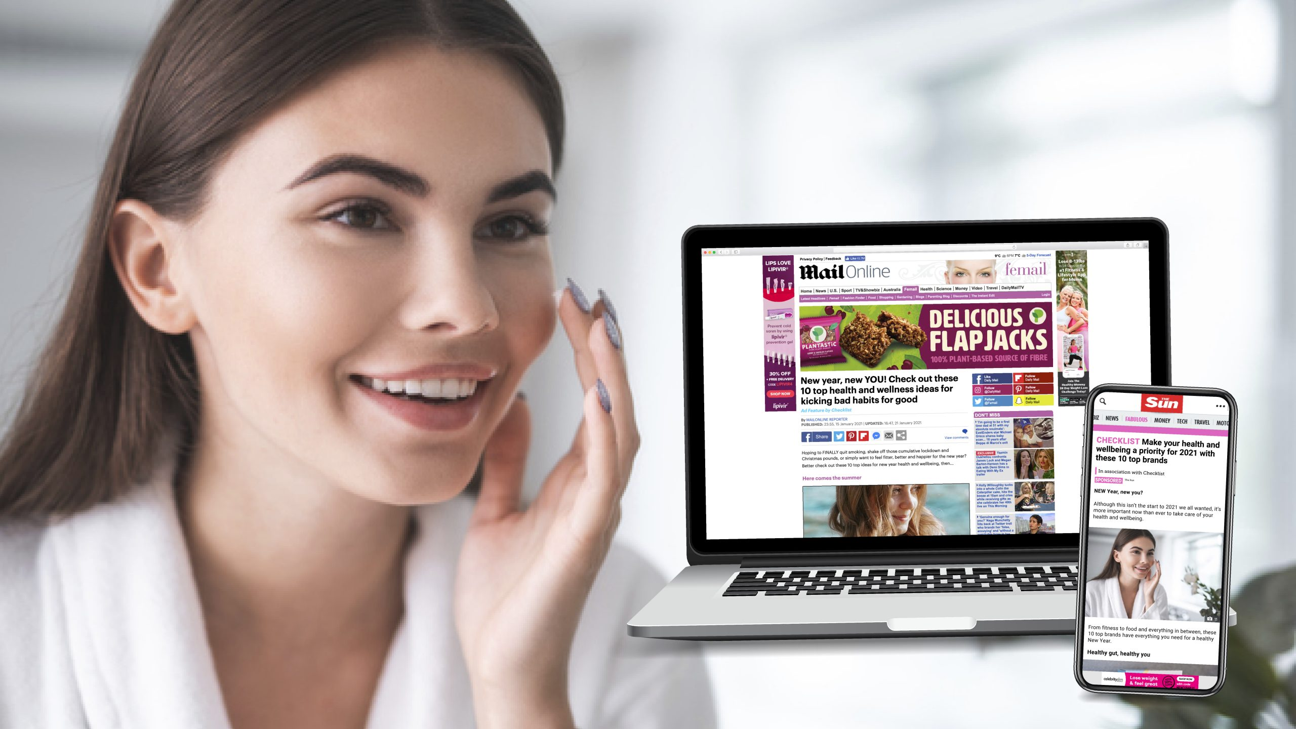 HEALTH & WELLBEING INSPIRATION IN THE MAILONLINE & THE SUN ONLINE