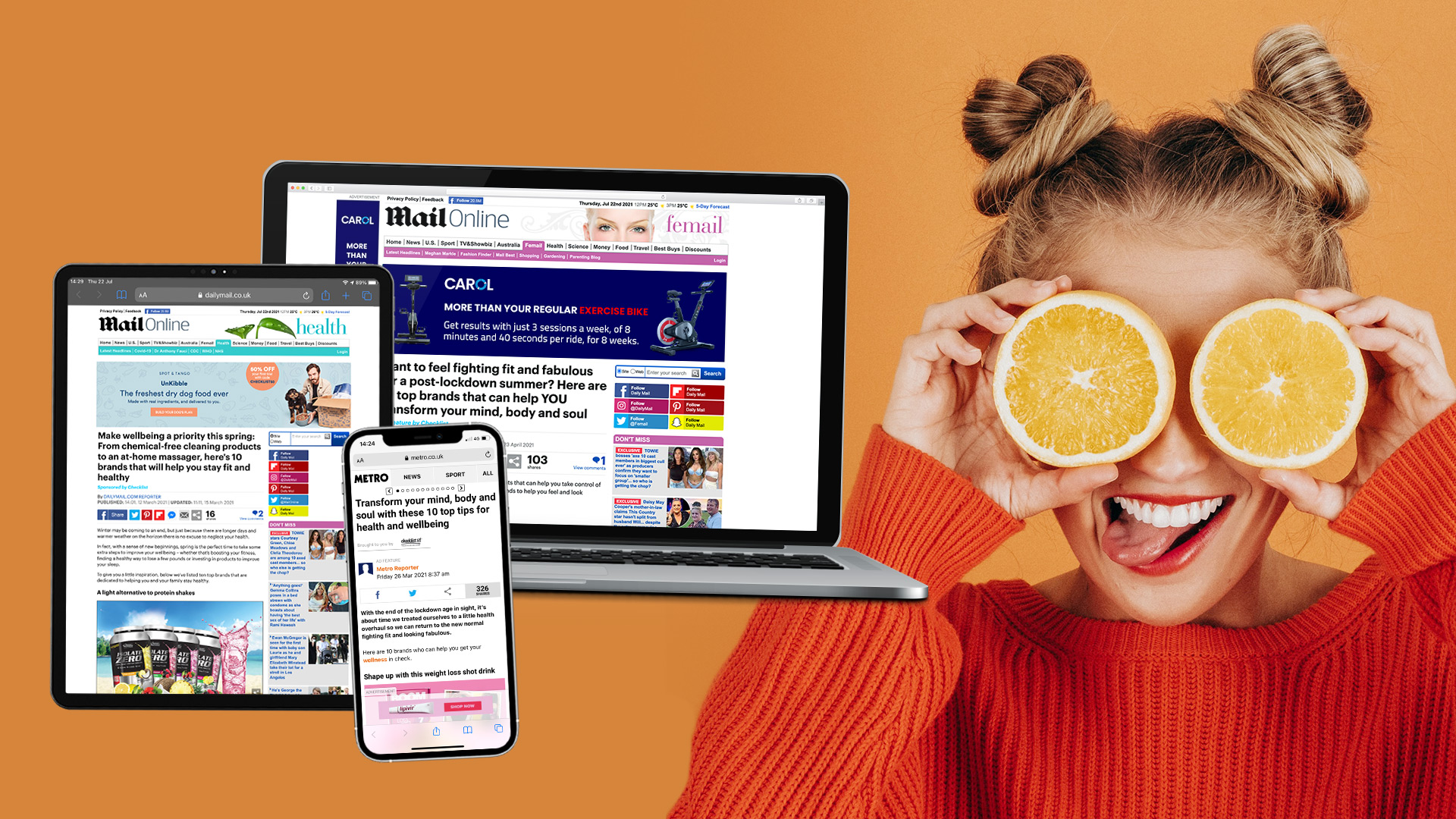 Spring Health & Wellbeing Inspiration in DailyMail.com